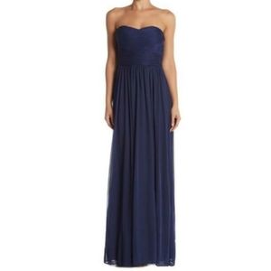 Marina Strapless Ruched Gown
